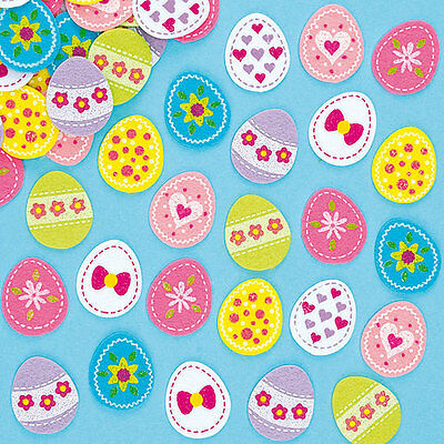 Easter Egg Felt Stickers for Kid's Crafts & Card Making Activities (Pack of 64)