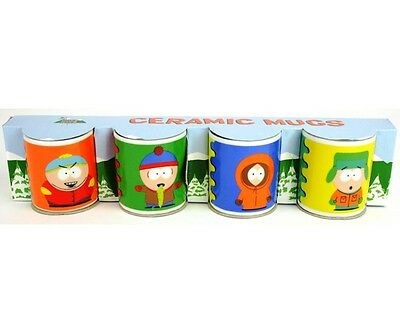 South Park  4er Set kleine Sammeltassen Cartman, Stan, Kenny, Kyle