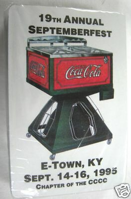 Coca Cola Playing Cards -1995 Elizabethtown, KY -Sealed