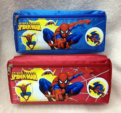 wholesale New spider-man Children's Pen bag Stationery bags Students tool bag