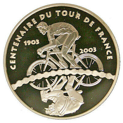 Francia France 1 1/2 Euro 2003 100 Years of Tour The France Argento Proof #2411