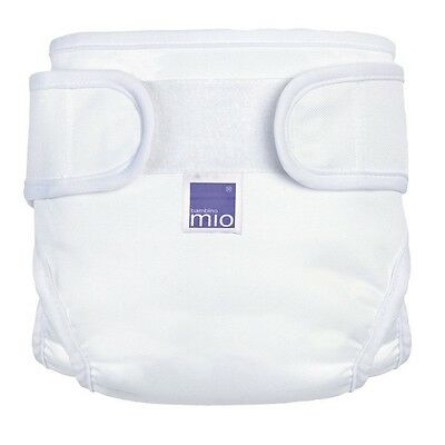 Bambino Mio Miosoft Cloth Diaper Cover - Hook & Loop - White - Medium