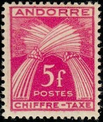"""ANDORRE FRANCAIS STAMP TIMBRE TAXE N° 29 """" CHIFFRE-TAXE 5F """" NEUF x TB"""