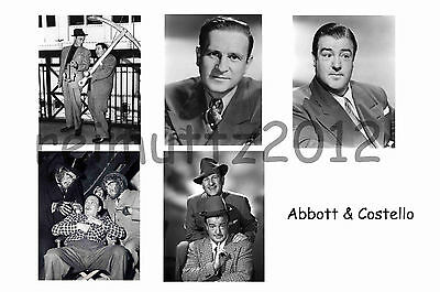 Abott & Costello - Set Of 5 Large Photo Prints