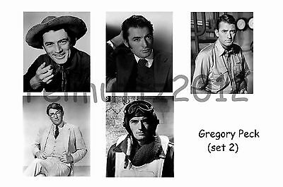Gregory Peck - Set Of 5 Large Photo Prints # 2