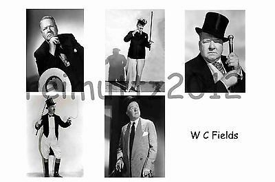 Wc Fields - Set Of 5 Large Photo Prints