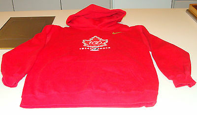 Canada 2015 World Juniors Hockey 100th Anniversary Youth Hoodie Sweater L Red