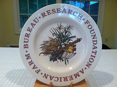 "Rare TIFFANY & CO. Porcelain Collector's Plate ""American Farm Bureau"" 1990"