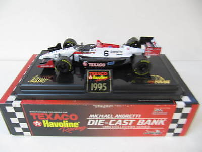 Texaco Rivederci Mario Andretti 1995 Series Die Cast Bank  NIB  1/24