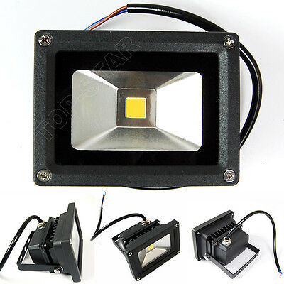 Super 10W 20W 30W Black LED Floodlights Cool Warm White Super Bright Outdoor