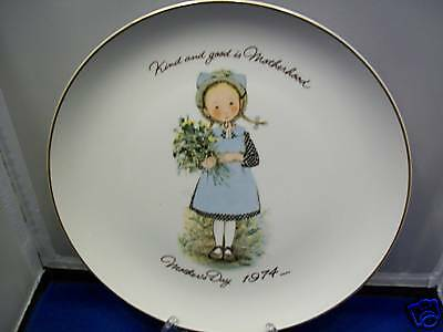 Mother's Day 1974 HOLLY HOBBIE Commemorative edt. Plate