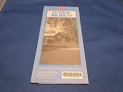 VINTAGE ROAD MAP 1995 1996 CENTRAL MICHIGAN AAA