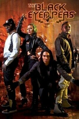 BLACK EYED PEAS ~ DIAMONDS 24x36 MUSIC POSTER Fergie Will I Am Taboo apl.de.ap