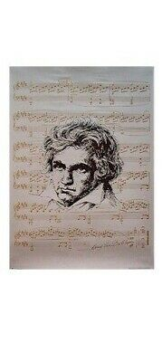 LUDWIG VAN BEETHOVEN POSTER ~ SHEET MUSIC 26x38 Classical