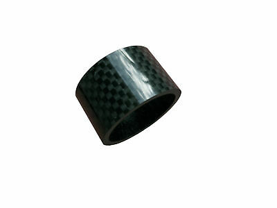 "Carbon Headset Spacer 20mm x 1-1/8"" x 34mm 3k Weave Gloss Bevato"