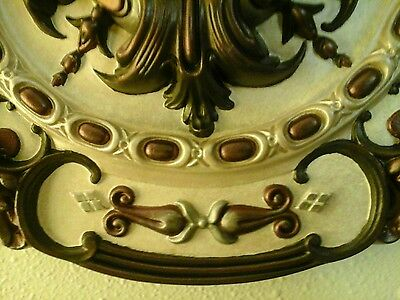 Gorgeous! Hand Painted Royal Ceiling Medallion Chandelier 16 3/8