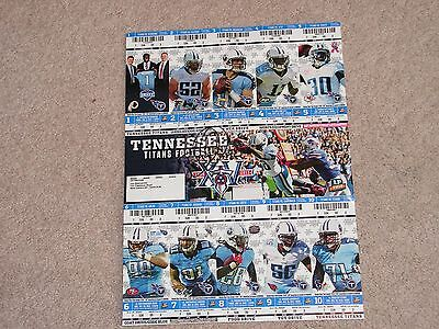 Tennessee Titans Delanie Walker Signed 2013 Season Tickets Coa From Mma