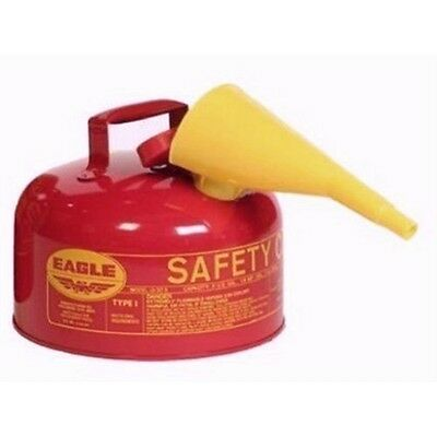 Eagle UI-20-FS Metal Safety Can - Red w/F-15 Funnel