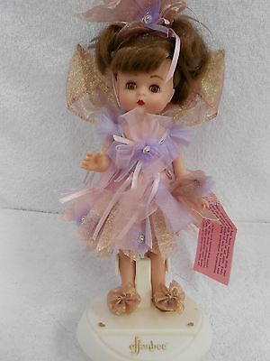 """9"""" Tinker Bell Effanbee Story Book Series doll and logo stand 1994"""