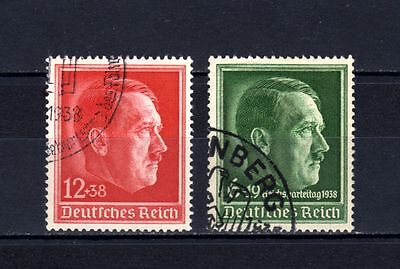 GERMANY EMPIRE-Third REICH.Yv.607+613.1938.NAZI Hitler.USED.DEUTSCHES REICH.WWII