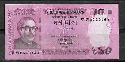 Bangladesh 2012 10 Taka Uncirculated Unc Banknote Bill Note Currency Paper Money