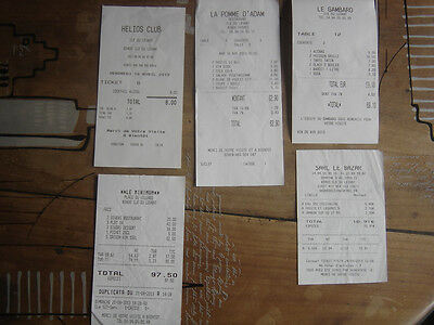 5 till receipt CAFÉ BAZAR shopping ILE DU LEVANT France french Riviera FKK AKT