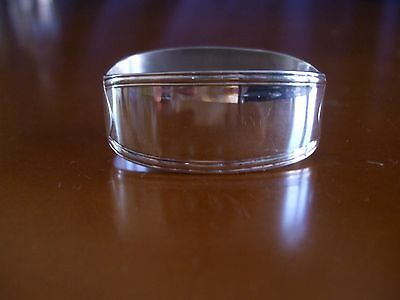 """SILVERPLATE NAPKIN RING """"W"""" INITIAL MARKED R&B 150"""