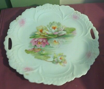 Made in Germany Porcelain WATER LILY REFLECTION Tray Plate Hand Painted