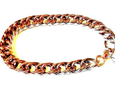 297f02eaa16 NEW Solid Copper (Double) Chain Link Mens Bracelet Arthritis Relief Folklore