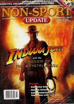 Non Sports Update Volume 19 No 3 2008 MINT Indiana Jones  BSG Stargate-SG1