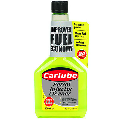CARLUBE PETROL INJECTOR CLEANER 300ML - Fuel Additive - REDUCE EMISSIONS
