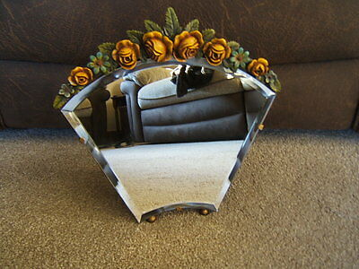 Mirror Barbola wedge shape  bevelled  glass great condition rear stand    B1 138