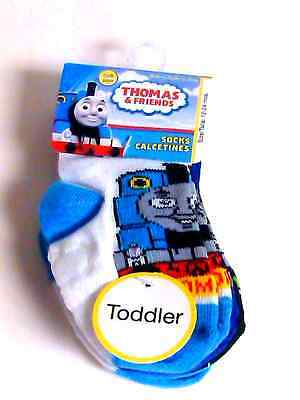 Thomas And Friends Boys 4 Pair Socks Size 12-24 Months Nwt