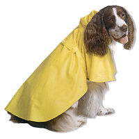 Dog Pet Raincoat Apparel In Size Xlg Lg Med Sm Yellow