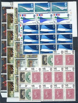 Great Britain 1967 to 1970 Commems 10 complete n.h. mint sets (2014/12/07/#03)
