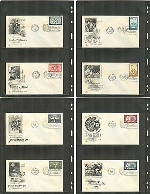 United Nations New York 1956 #41-48 Art Craft First Day Cover Set, Addressed