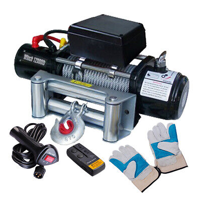12000LB 12V 6.6 Electric Recovery Winch Wireless Remote Trailer For Truck SUV