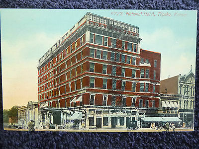 Early 1900's National Hotel Topeka, Ks Kansas PC