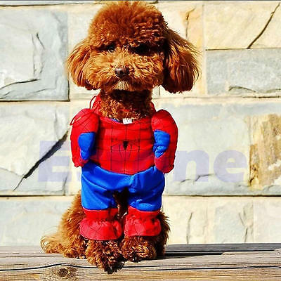 Pet Dog Cat Apparel Spiderman Clothing with Cape Cosplay outfit Costume Clothes