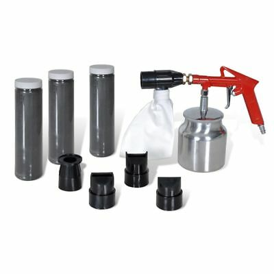 B#Air Sand Blasting Kit 3 Bottles of Sand&4 pcs Nozzles Rust Remove Cleaning