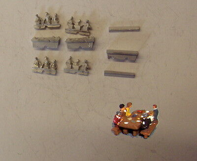 P&D Marsh N Gauge N Scale C80 Picnic table set castings require painting