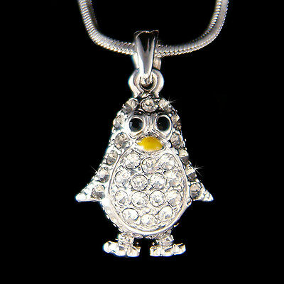 ~Gray Emperor Penguin~ made with Swarovski Crystal Antarctica Girls Necklace New