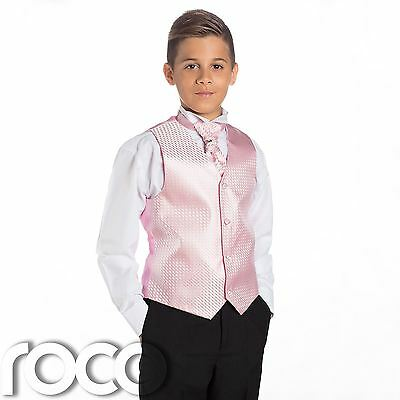 Boys Baby Pink & Black Suit, Page Boy Suits, Boys Wedding Suits, Boys Suits