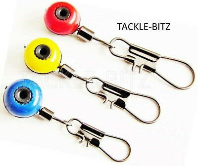 Fishing Tackle Running ledger zip slider beads snap links swivels 3 size choices