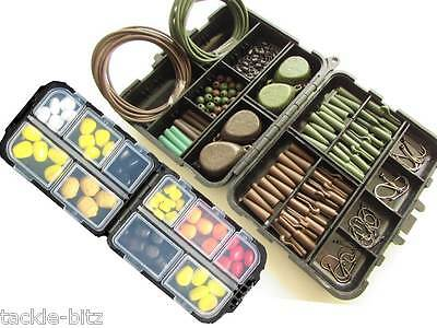 Fishing Tackle Box 4 Carp Weights Safety Clips Hooks Swivels Carp Imitation set
