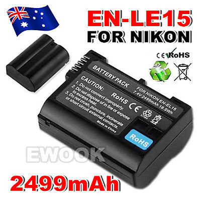 OZ G Backup for Nikon EN-EL15 Battery Camera ENEL15 P7000 D5100 D3100 D3200