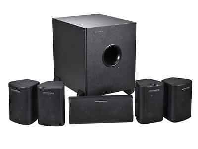 Monoprice 8247 5.1 Channel Home Theater Satellite Speakers & Subwoofer System