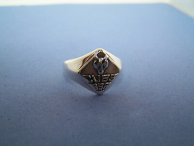 BSA Boy Scouts of America Sterling Silver Cubs Wolf Ring Size 5