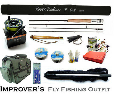Ready to Fish RADION IMPROVER'S COMPLETE FLY FISHING OUTFIT - Choice of Fly Rods