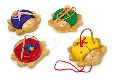 Wooden Threading Lacing Beetle Creative Learn Laces Motor Skills Children's Toy
